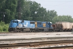 CSX 2489 & 2483 waiting to go west with D006