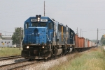CSX 2489 & 2483 leading D006 away from the yard