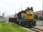 CSX 2578 heading south past Watson Street with Y106