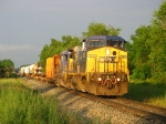 CSX 7880 & 8041 rolling into the evening sun and out of the rolling thunderstorms with X999-30