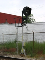 Having been deactivated, the one-of-a-kind signal at Eastern Ave awaits its fate
