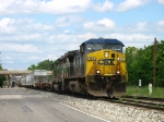 CSX 493 & FURX 3032 underway again with Q326-08