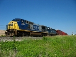CSX 7703 & HLCX 8142 racing west with Q327-09