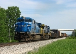 CSX 7319 & 7377 rolling towards the siding at Fox with Q335 where the train will be tied down