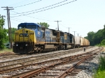 CSX 7873 & 4518 bringing Q335-11 into the plant at Plaster Creek