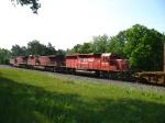 CP 6047, 9577 & 9523 heading away