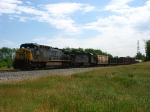 CSX 382 & HLCX 8137 rolling westward with Q335-21
