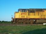 UP 4993 Northbound on Coffeyville sub at speed 60mph