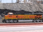 BNSF 5457 waiting for a crew at the point of an EB grain train at 12:49pm