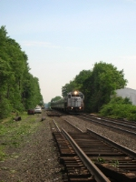 NJ TRANSIT Train 5419 passes the work site