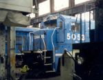 CR 5053 in A Bay Conrail Juniata Shop