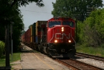 CN 5723 leads Eastbound Stacks