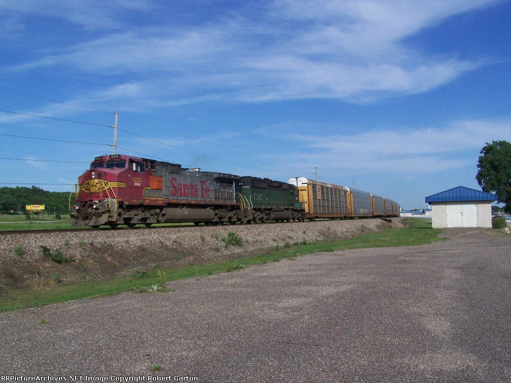 Heading North/West with a Consist of Loaded Autoracks