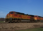 Two Dash-9's Lead Freight Toward LaCrosse, WI