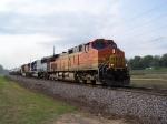 BNSF 4847, BNSF 4371 and an EMDX Loaner