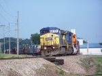 CSX 7872 Leans into a Curve