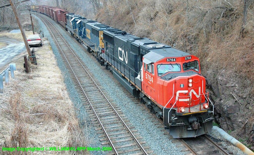 NS 30T CN 5764 On Siding At Millersburg