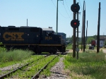 CSX 2654 Heads North Across The Old GTW Diamonds