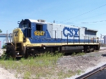 Retired CSX 9247 Sits Behind The Shop