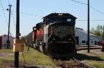 CN 764 in the yard