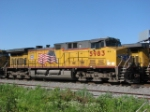 Posed at Paducah with another coal train
