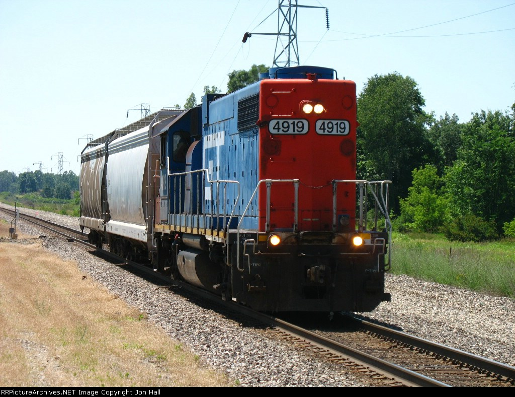 GTW 4919 heading back to Lansing with R933