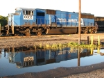 6802 checks out its Conrail Blue reflection