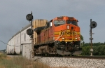 BNSF 4648 leading Q267 through the signals