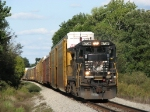 After meeting L96, 8738 heads west again with 121