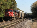 CN 2554 & 5327 leading westbound X397 into the yard