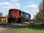 CN 5627 & CEFX 3114 leading Q335 through the shadows