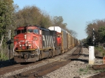 CN 5539 & 5637 racing west with Q149