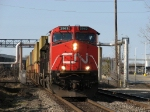 CN 2563 rolling east with A480