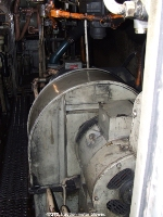 47270's auxilliary compartment, looking at the traction motor blower.
