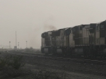 UP 5279 with a clear signal in a dust storm