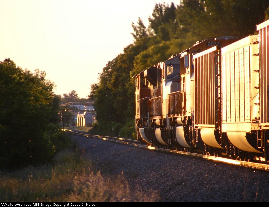 Coal empty loco's heading west