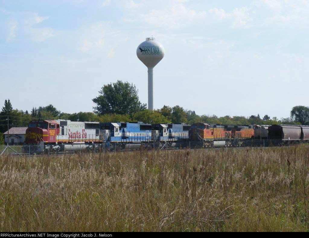 Cass Lake yard in front of the Cass Lake watertower