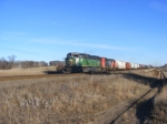 BNSF 8193 and IC 6108