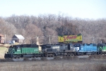 A Nice Lash-up Consisting of BNSF 6384, NS 9326, EMDX 787 and BNSF 2812