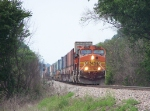 A Doublestack Train Slows to a Crawl