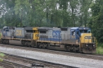 CSX 7638 (Dash8-40C) Heads south towards the Diamond