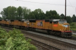 UP 4888, 4337, 4573, an 5130 Light loco's (all SD70MAC'S) head for the Wye to get turned around