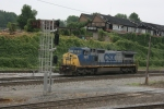 CSX 7671 Light Loco (Dash8-40CW) heading to get turned around using the Wye