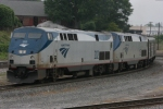 Amtrak 202 (GE P42DC) heads north after leaving the Atlanta Station as it cuts the diamond