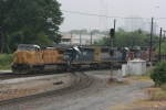 UP 9535 (Dash8-40CW) Leads off northbound on the CSX mainline cutting the diamond which crosses over a NS line
