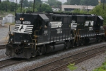 NS 7010 (GP-50) & 5005 (GP 38) Local rumbles north passing by the Howell Wye