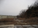 Some abandoned tracks looking west heading towards the ex Pepsi plant now Coca Cola plant