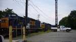 Diesels in Conrail's Metuchen Yard