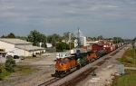 BNSF 5065  SB Mixed Freight passing thru on this nice 80 degree day