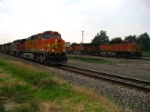 BNSF 5414  UPS mail train racing towards Chicago